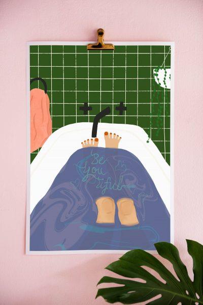 Brook Gossen Beyoutiful Wall Art Print (A3 or A4)