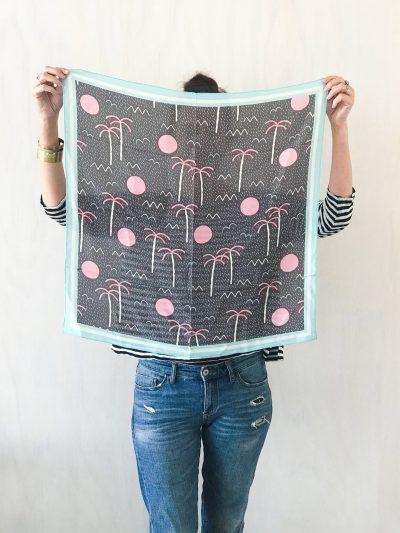 boracay palm tree silk scarf