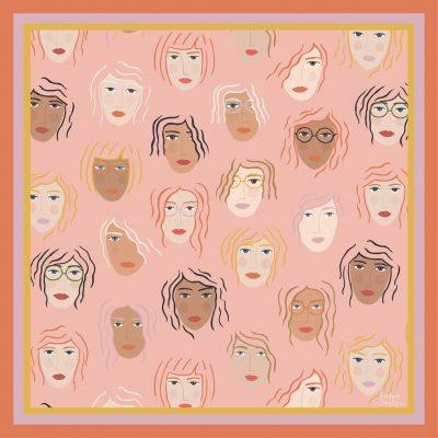 girls rule scarf artwork