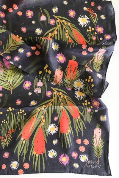 spotty native silk scarf