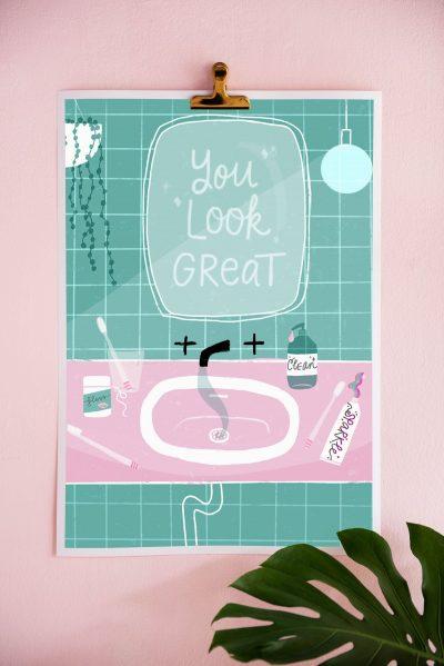 you look great fine art print