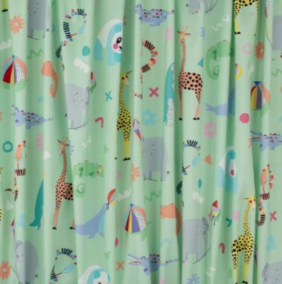 Rainbow Zoo Fabric - Mint