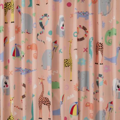 Rainbow Zoo Animal Fabric - peach